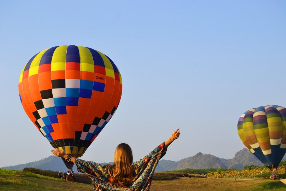Chiang Rai International Balloon Fiesta Singha Park Chiang Rai