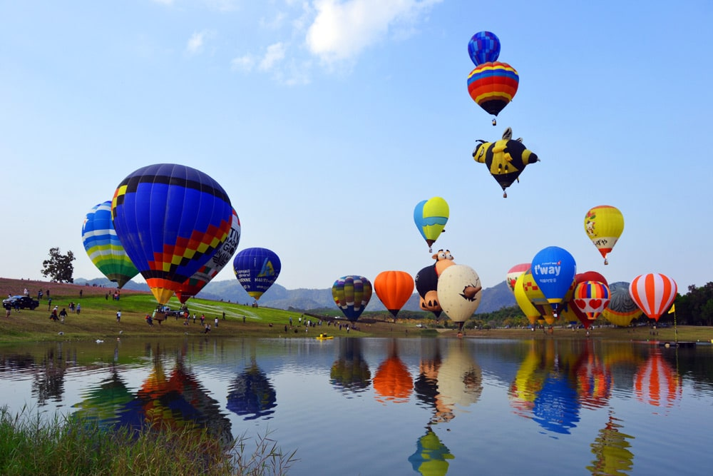 Chiang Rai International Balloon Fiesta Singha Park Chiang Rai