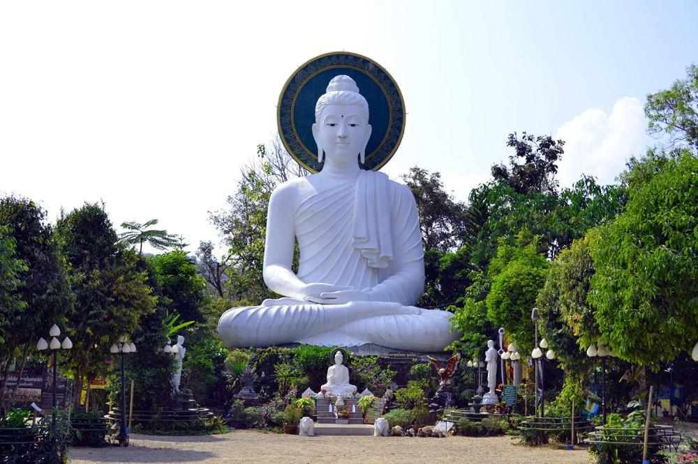 Doi In Cee Lookout Buddha Statue Chiang Rai Thailand