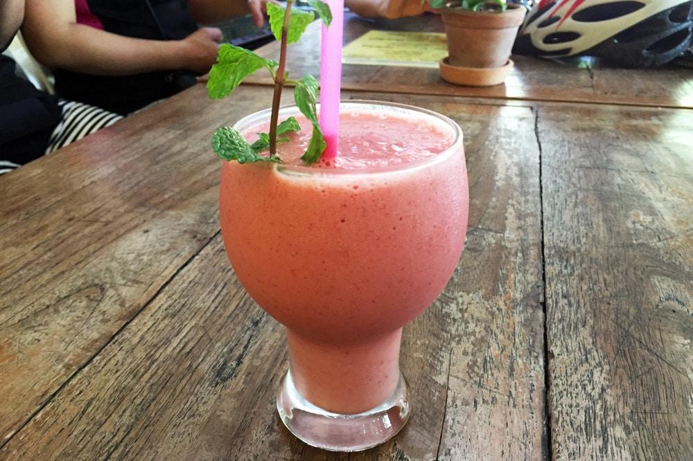 Die besten Restaurants in Chiang Mai: Mao Taa Peng Cafe - Fruchtshake