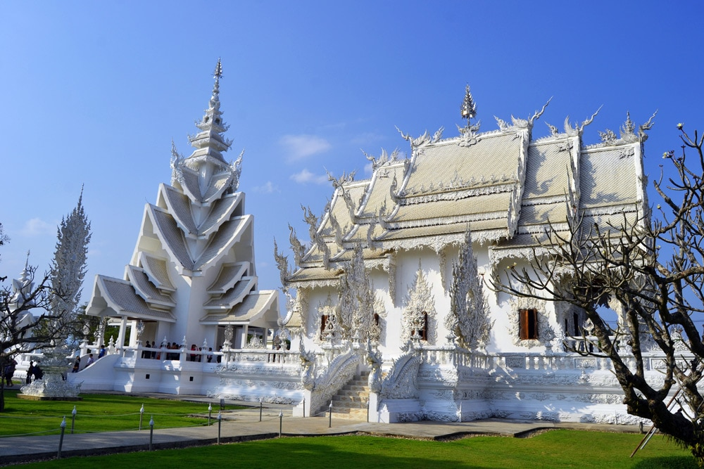 Wat Rong Khun (White Temple) in Chiang Rai, Thailand