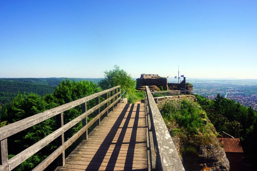 Frankreich Roadtrip: Chateau Fort du Haut Barr Burg in Saverne, Vogesen