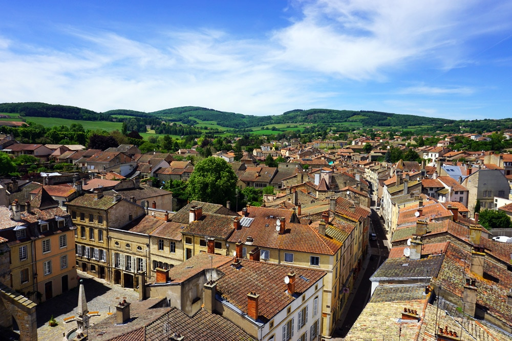 Cluny Abtei Kloster in Bourgogne Franche Comté - Aussicht vom Tour de Fromage