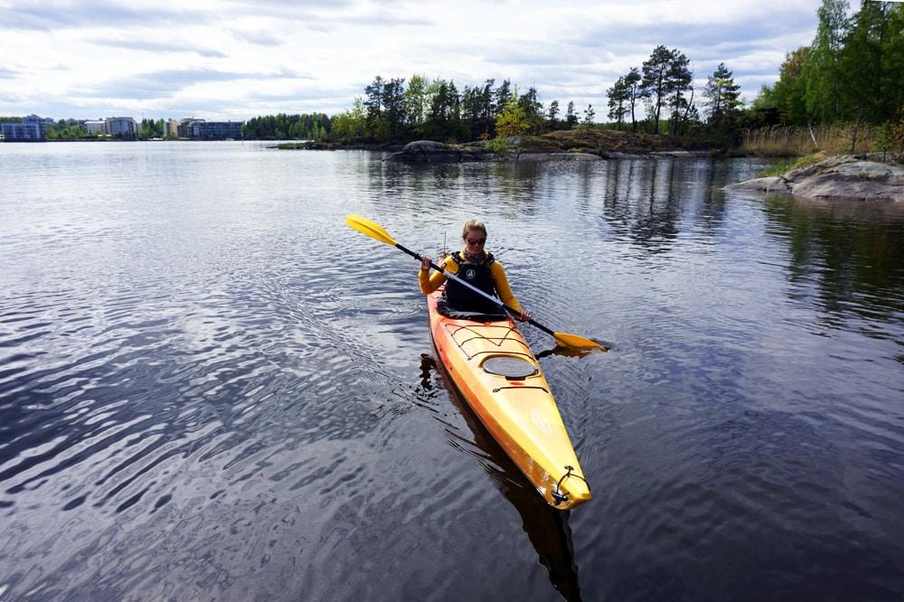 Kayak fahren auf dem Saimaa See: Eine Kayak Tour von Lappeenranta auf die Inseln des Saimaa Archipel