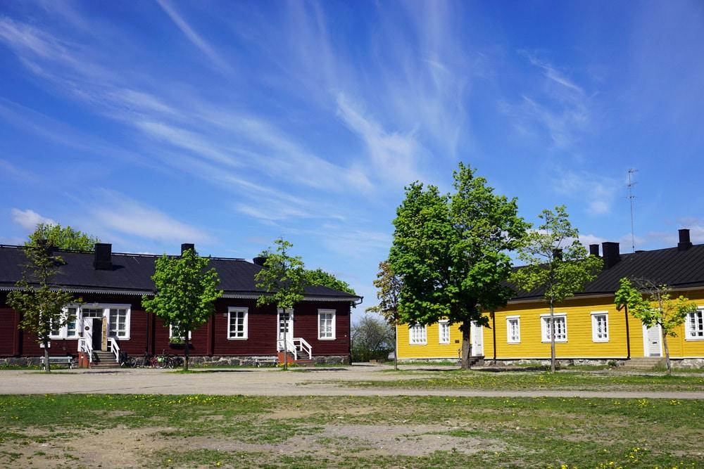 Altstadt von Lappeenranta am Saimaa See in Südkarelien, Finnland