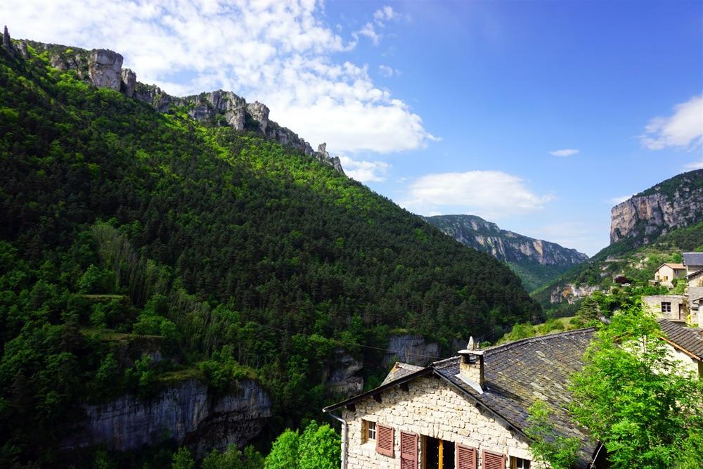 Klettern in Frankreich: Gebirge und Fels Massiv in der Lozere
