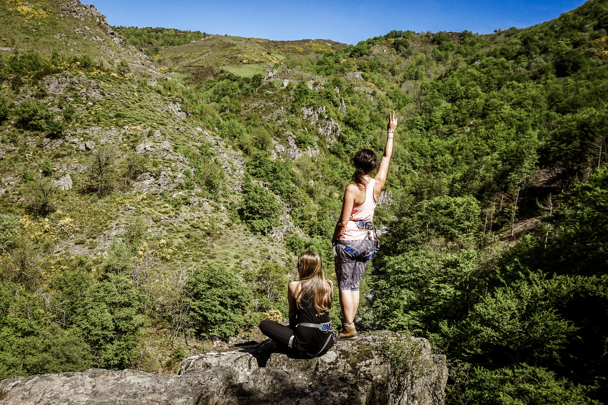 Klettern in Frankreich: Cirque des Baumes und Via Ferrata des Rousses in der Lozere