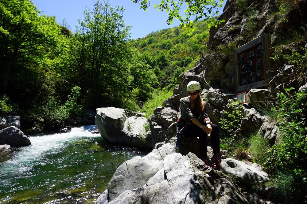 Klettern in Frankreich: Via Ferrata des Rousses Klettersteig in der Lozere