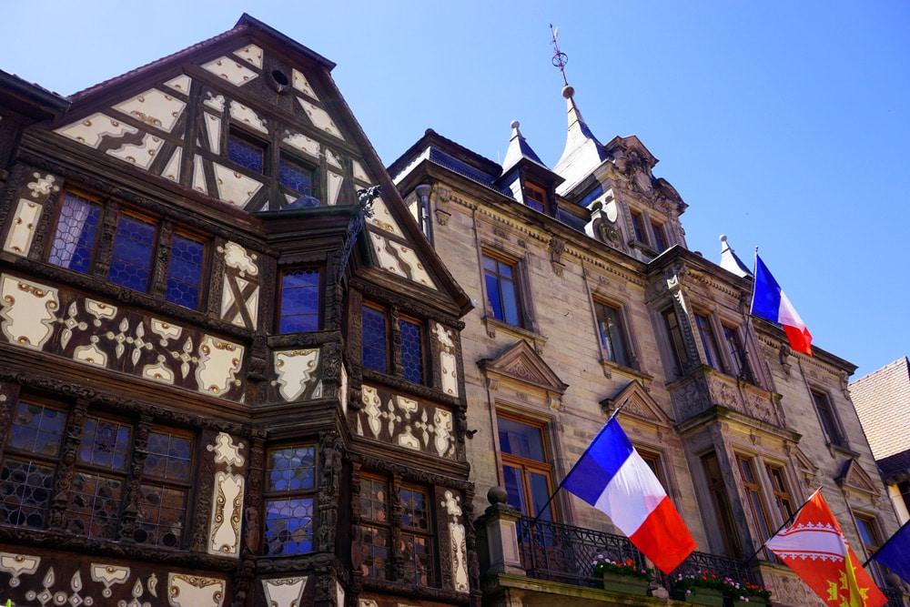 Vogesenmassiv: Altstadt von Saverne - Fachwerkhäuser