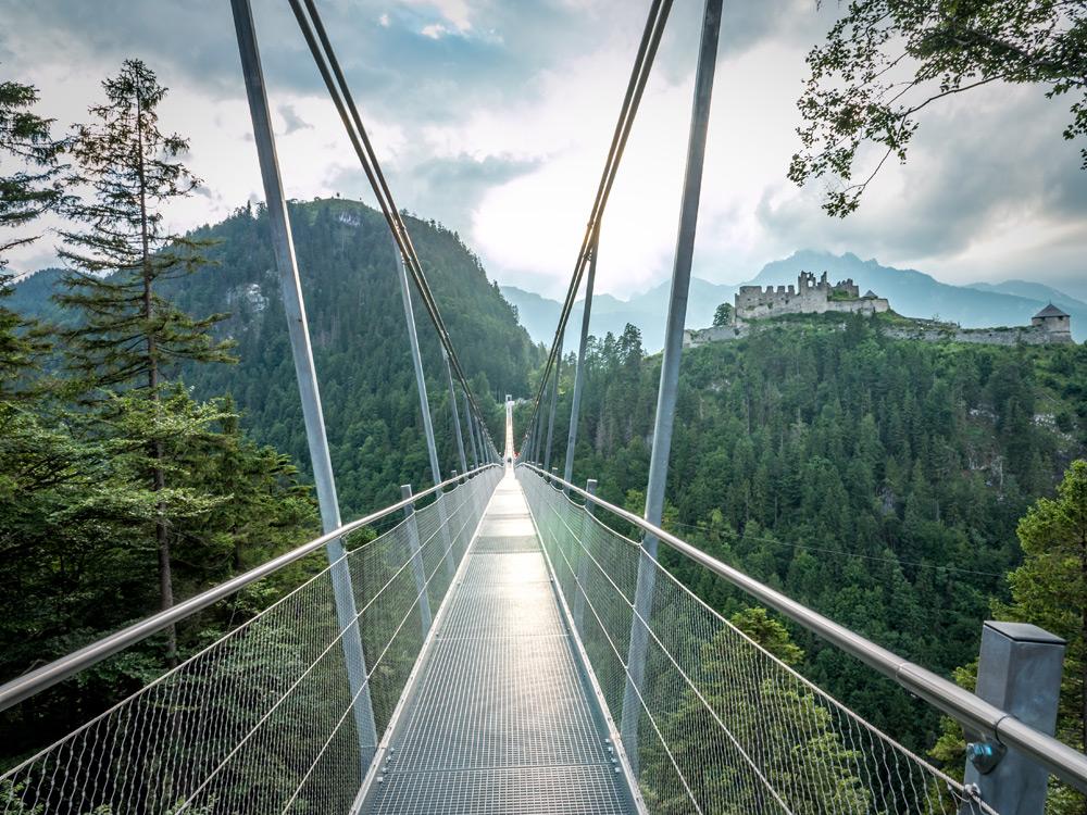 Highline 179 Hängebrücke in Reutte bei Füssen