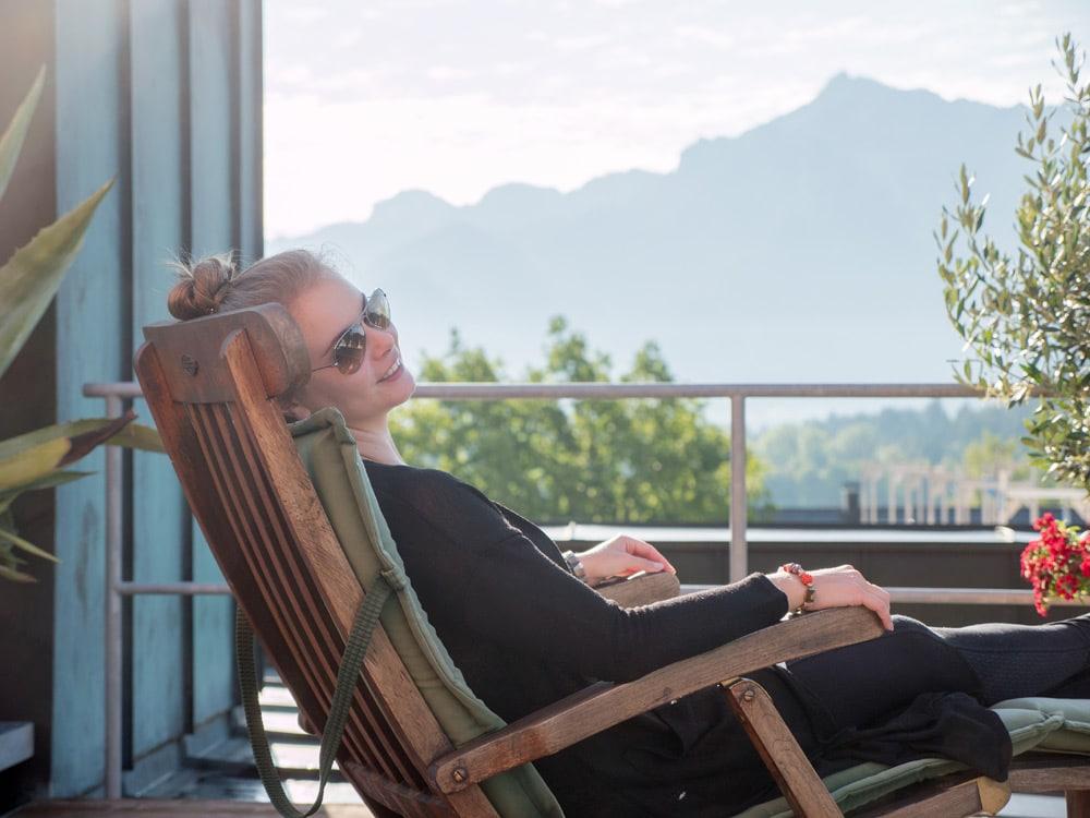 Hotel Hirsch in Füssen - Aussicht von der Dachterrasse