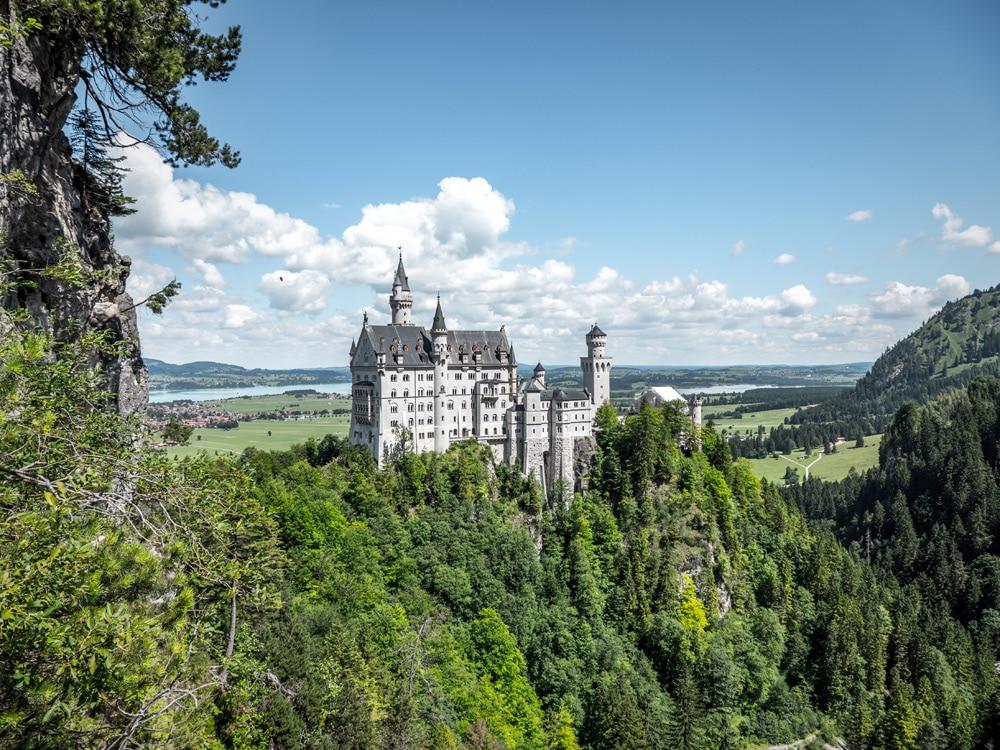 Schloss Neuschwanstein - Aussicht von der Marienbrücke