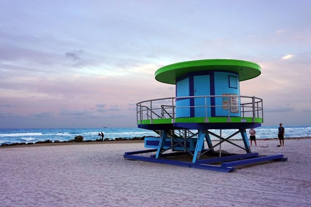 Miami Beach: Sonnenuntergang am Riu Plaza