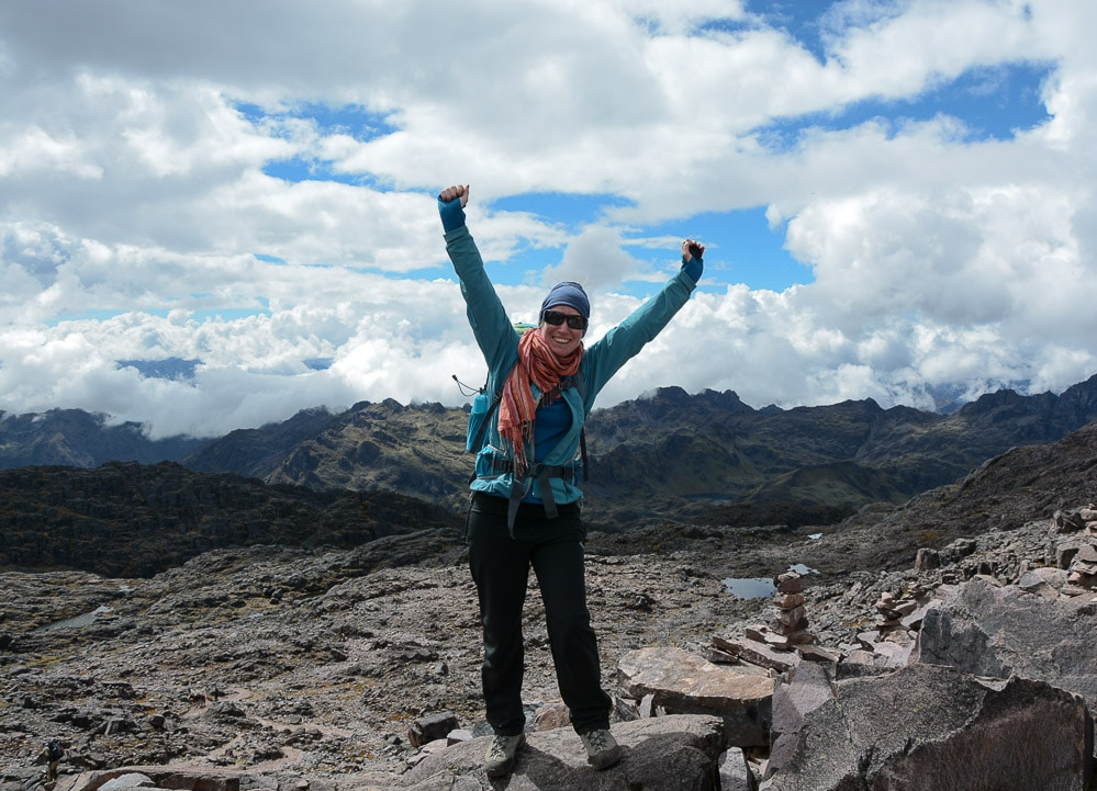 Lares Trek nach Machu Picchu: Tag 2 Trekking in Peru - Gipfel auf 4.800 Metern Sicllaccasa