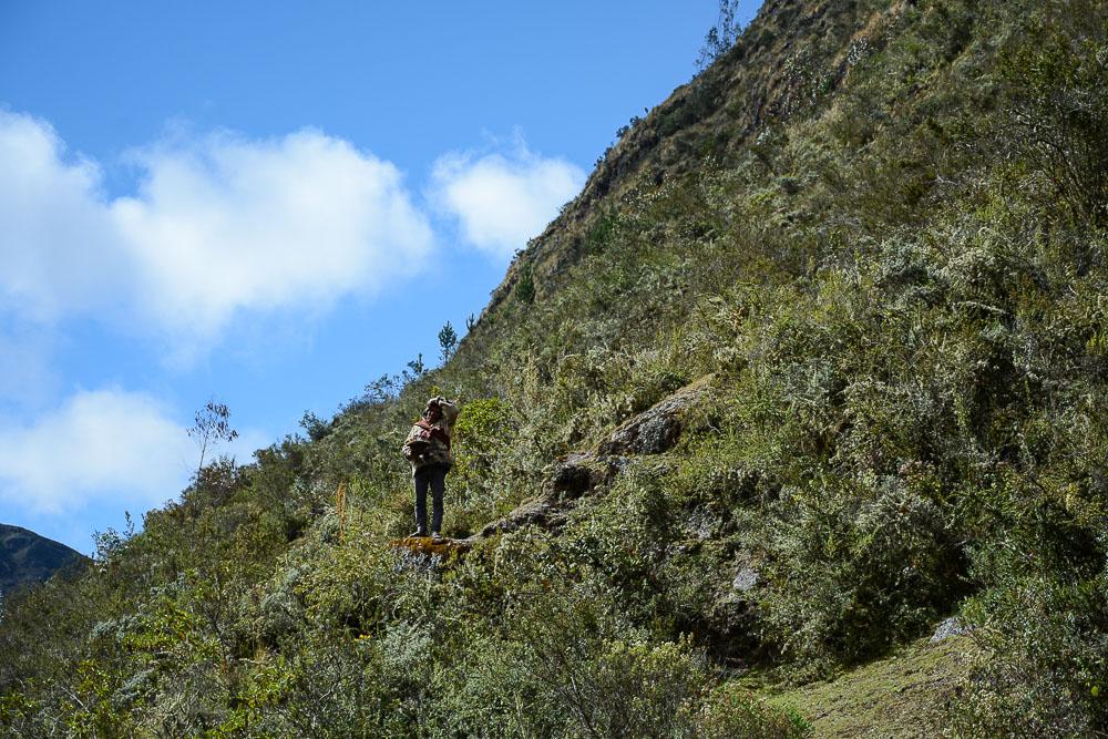 Lares Trek nach Machu Picchu: Tag 1 Trekking in Peru Inka Mann