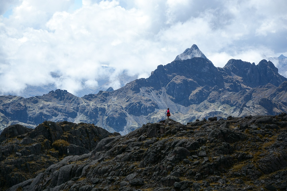 Lares Trek nach Machu Picchu: Tag 2 Trekking in Peru Inka Frau