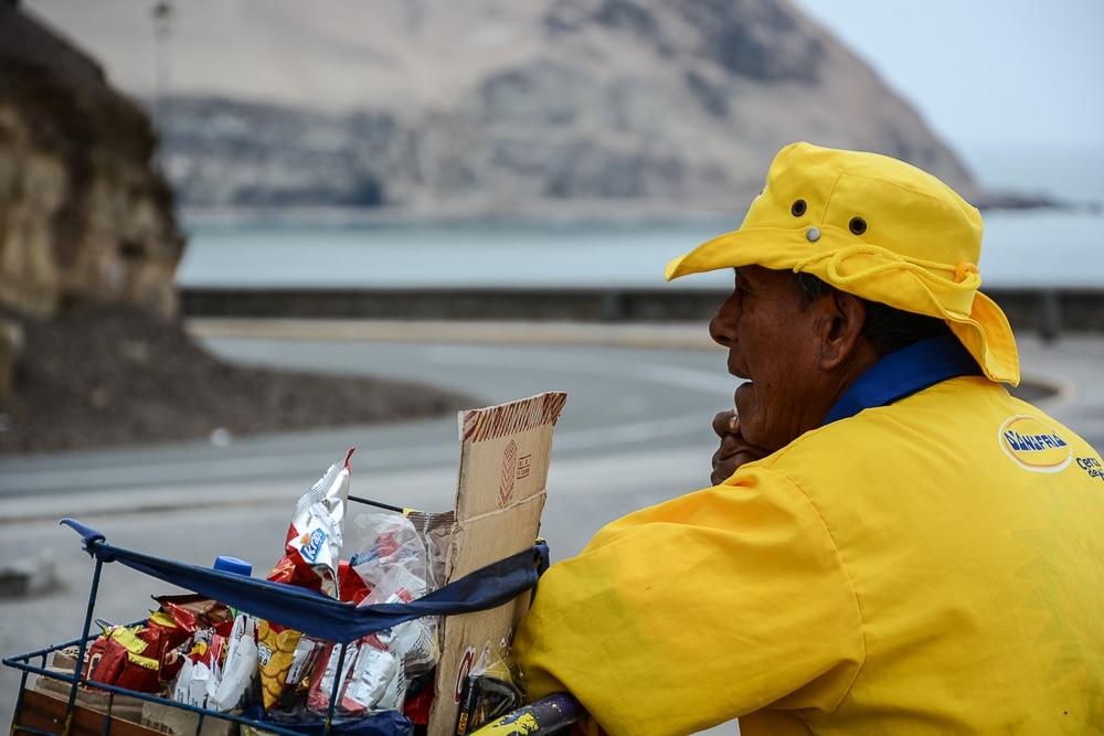 Peru: Plaza Beach in Lima - Steilküste
