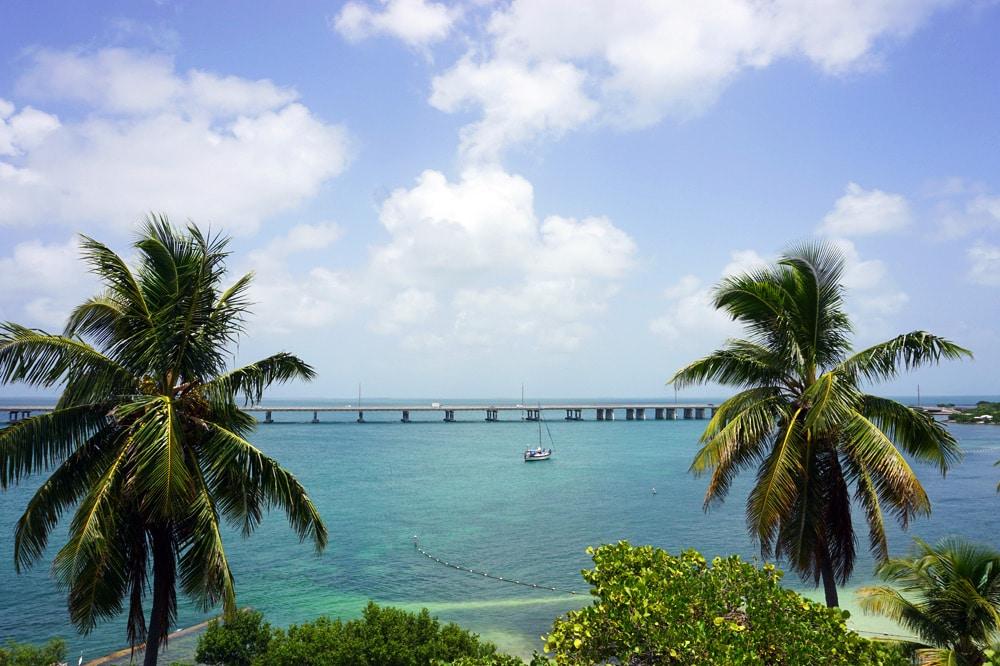 Bahia Honda State Park - schönste Strände Florida Keys - Old Bahia Honda Bridge Aussicht