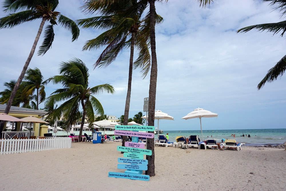 South Beach in Key West, Florida Keys