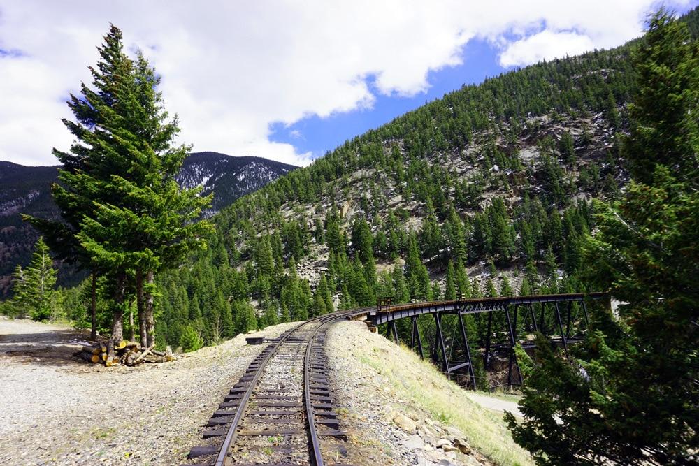 Georgetown Loop Railroad: Fahrt mit der Dampflok durch die Colorado Rocky Mountains