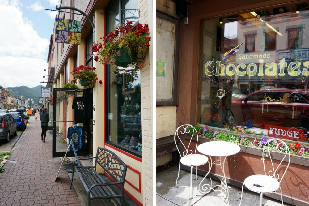 Sehenswürdigkeiten rund um Denver: Idaho Springs - Shopping und Cafés in Colorado