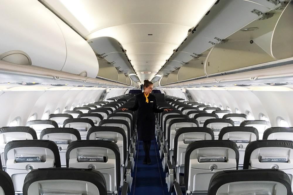 Flughafen München - fliegen im Lufthansa Flieger