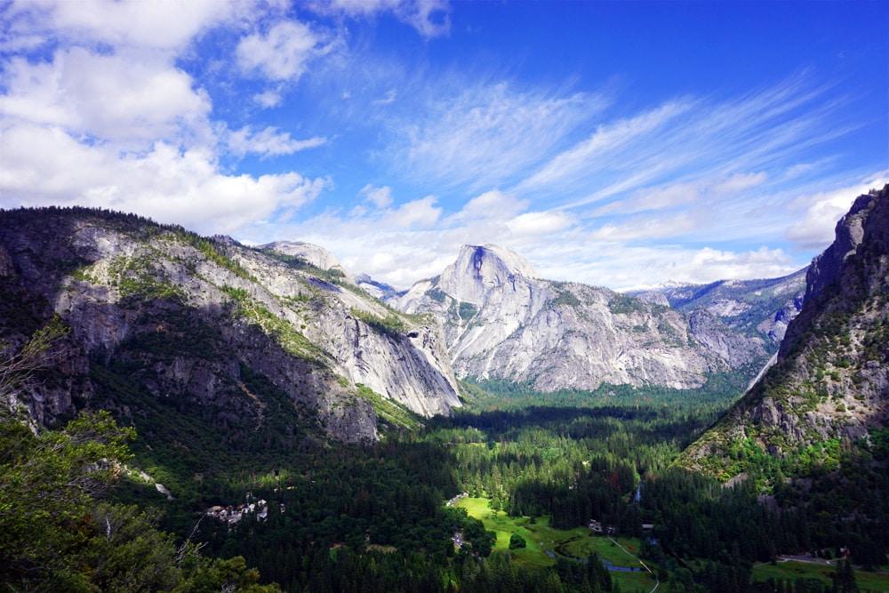 Von San Francisco zum Yosemite Nationalpark - Aussicht Half Dome