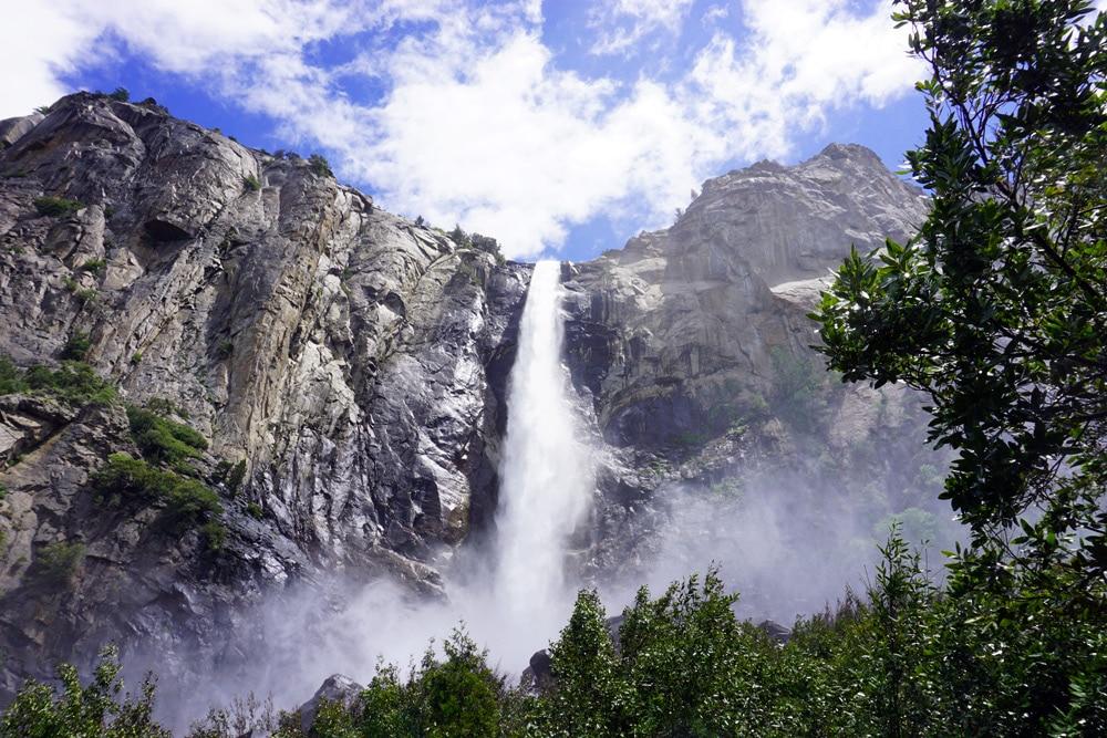 Von San Francisco zum Yosemite Nationalpark - Bridal Veil Fall