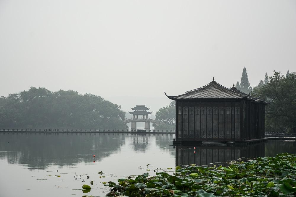 Westsee Hangzhou, China - Bootsfahrt