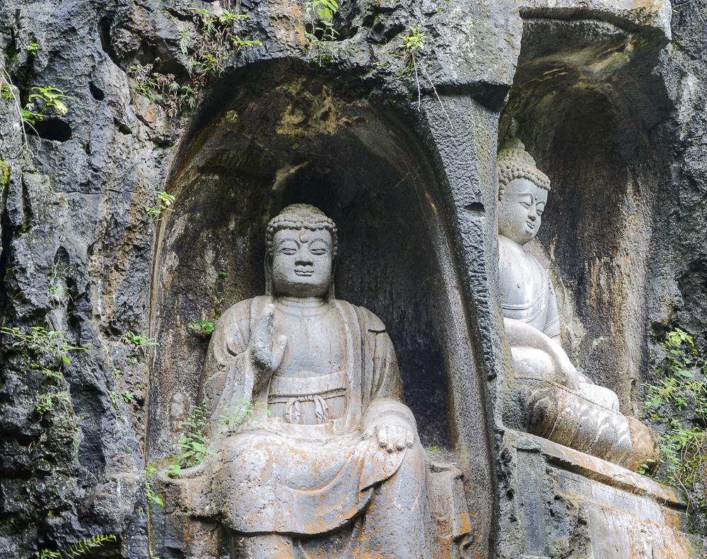 Hangzhou: Lingyin Tempel Buddha Figur - China