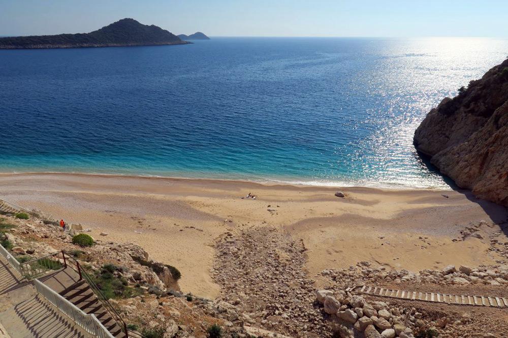 Lykische Küste: 3. Kaputas Beach, der vermutlich schönste Strand der Türkei