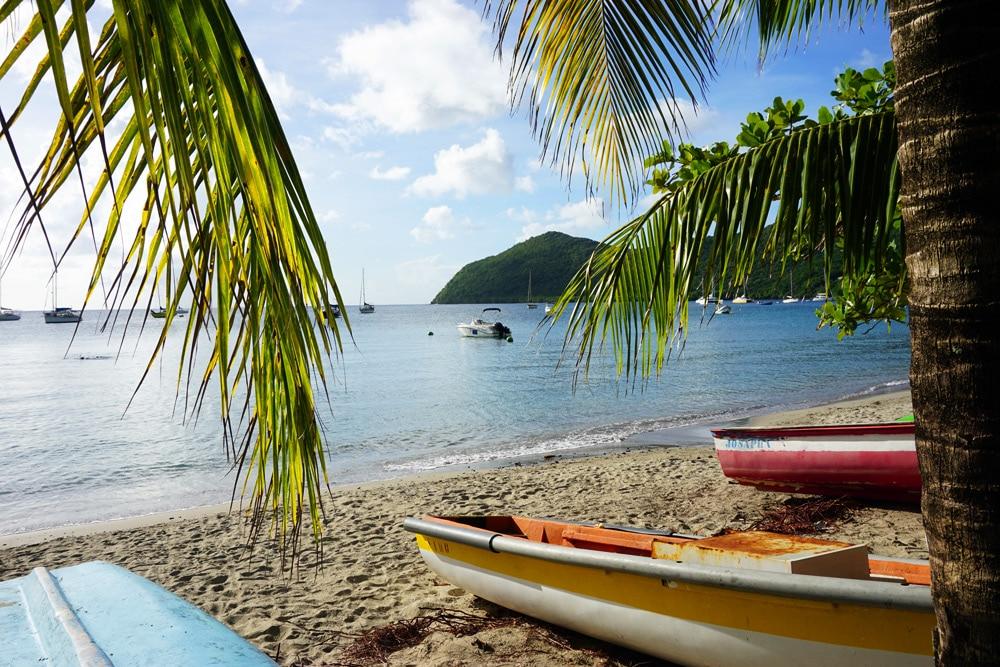 Wassersport am Strand Grande Anse auf Martinique