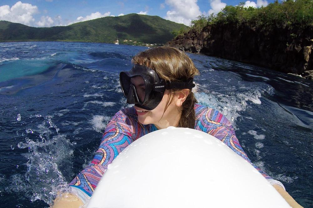 Wassersport und Seabob am Strand Grande Anse auf Martinique