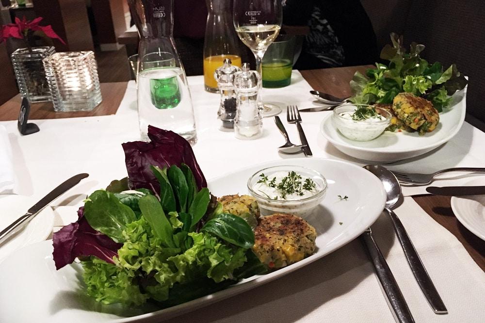 Therme Geinberg Erfahrungen: Erfahrungsbericht Abendessen vegan