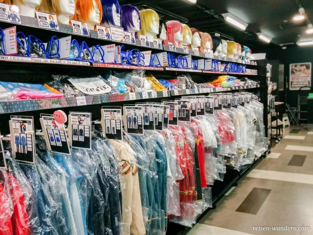 Akihabara in Tokio: Sehenswürdigkeiten und Things to do - Cosplayperücken und Cosplaykostüme in Akihabara