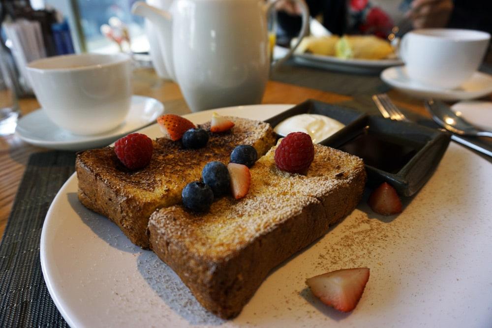 Hong Kong Reise: Frühstück a la Carte im Restaurant - Hotel Stage in Kowloon