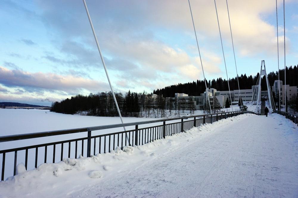 Jyväskylä in Lakeland, Finnland: Brücke