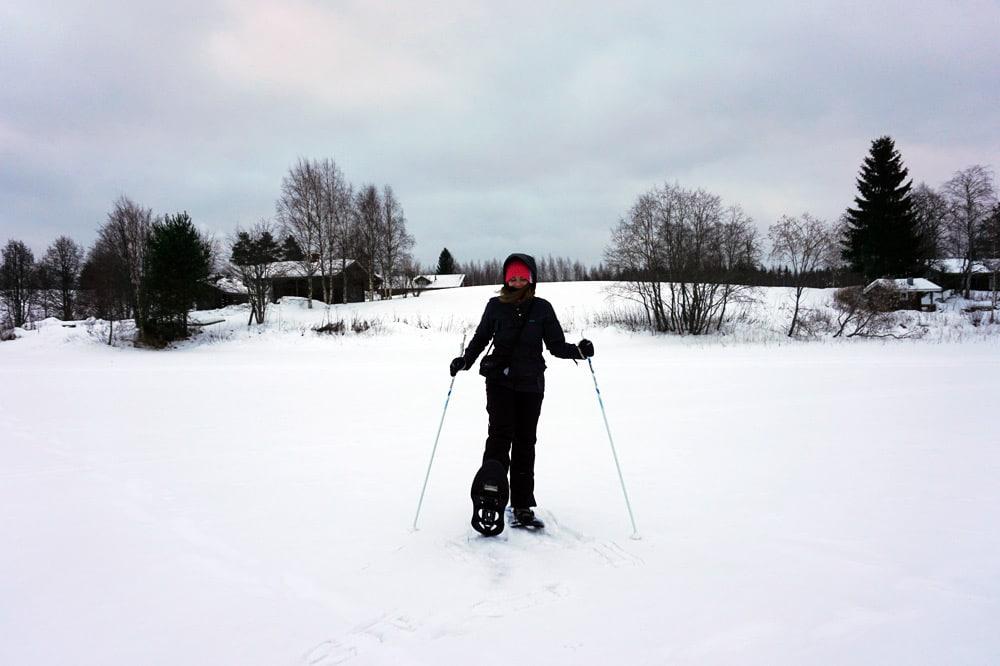 Jyväskylä in Lakeland, Finnland: Langlauf - Schneeschuhwandern