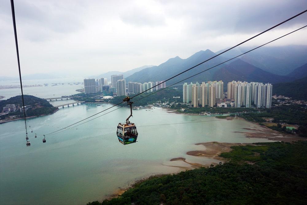 Hong Kong Reise: Fahrt mit der Seilbahn zum Tian Tan Buddha (Big Buddha)