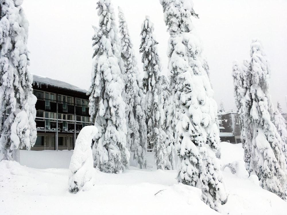 Break Sokos Hotel Koli Einstieg zur Skipiste