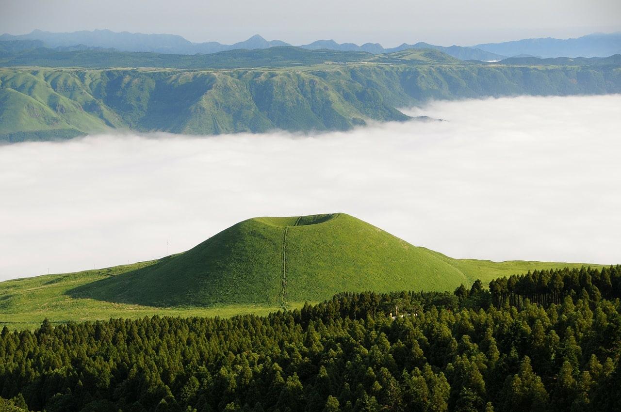 Vulkanlandschaft in Japan