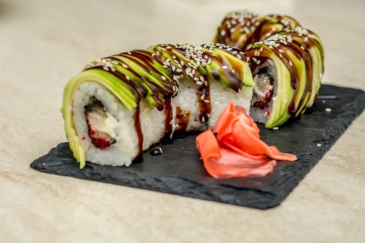 Sushi Ausdeckung in Japan