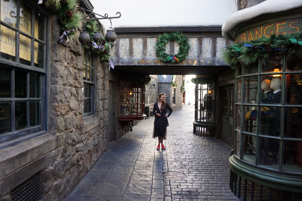 Universal Studios Hollywood Erfahrungen: The Wizarding World of Harry Potter - Harry Potter World - Winkelgasse