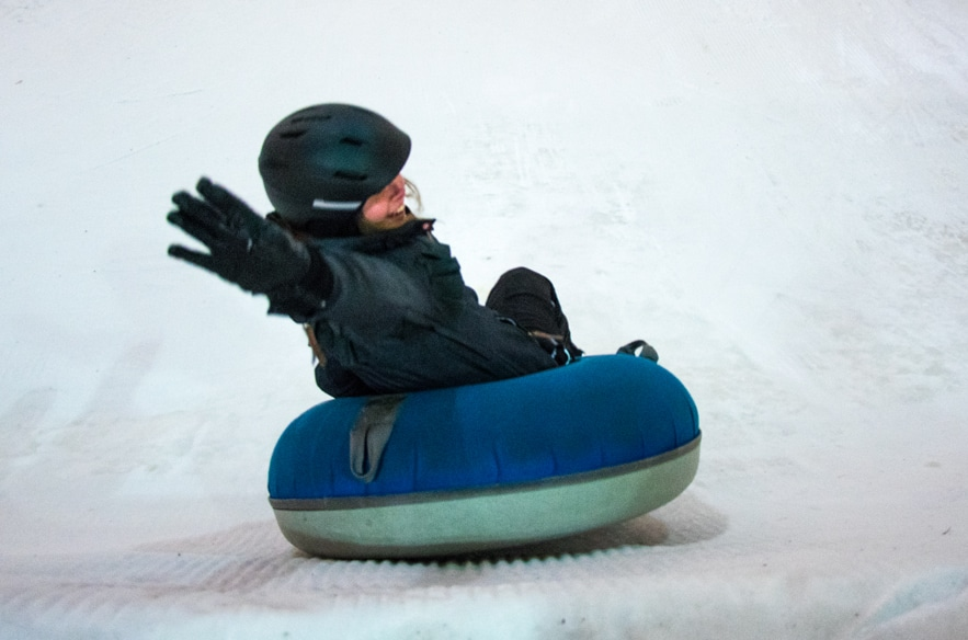 Snowtubing im Vuokatti Sports Center Finnland