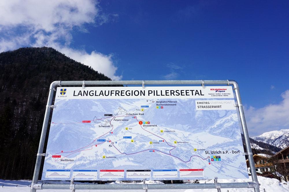 Loipenplan Langlauf Region Pillerseetal