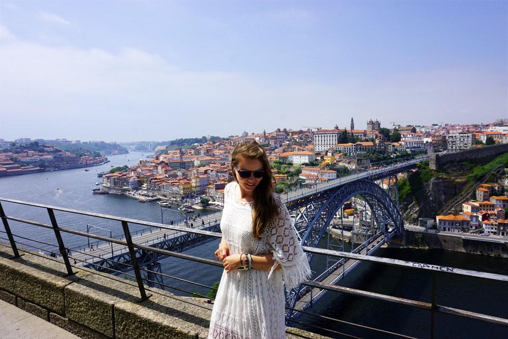 Ausblick vom Kloster Serra do Pilar auf die Ponte Dom Luis