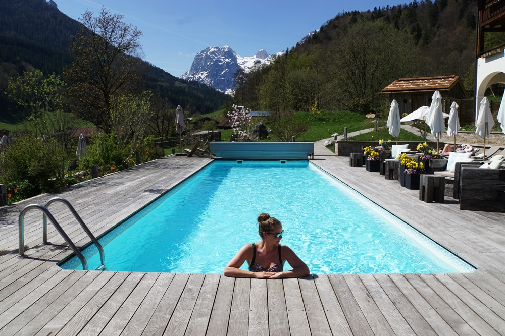 Berghotel Rehlegg Erfahrungsbericht: Outdoor Pool