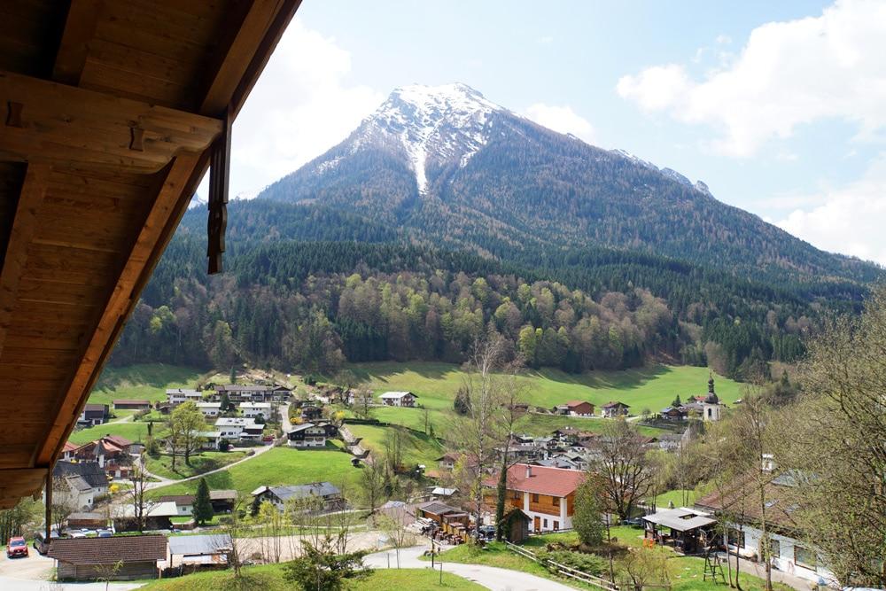 Berghotel Rehlegg Erfahrungsbericht: Ausblick vom Balkon der Junior Suite
