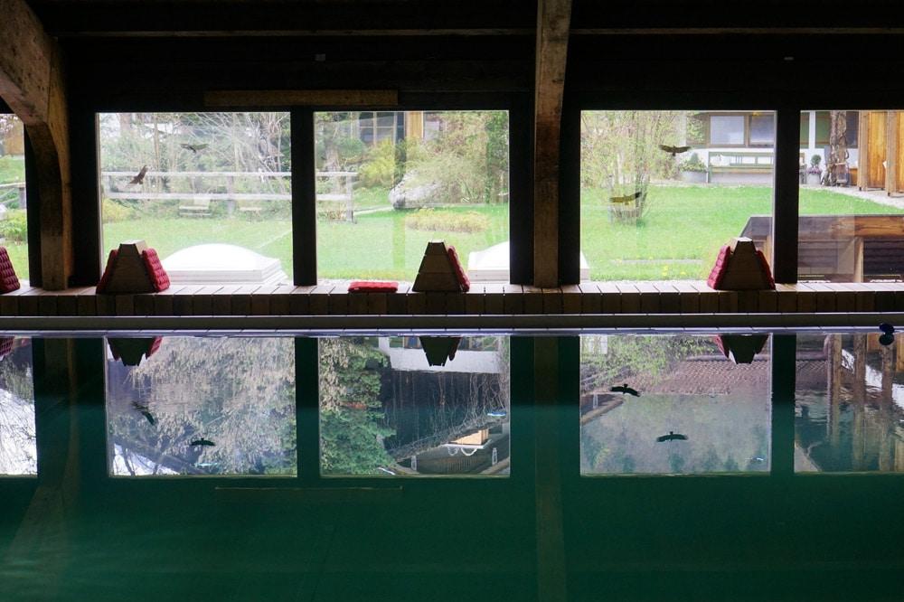 Berghotel Rehlegg in Ramsau bei Berchtesgaden: Spa und Wellnessbereich mit Indoor Pool