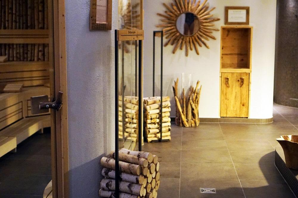 Berghotel Rehlegg in Ramsau bei Berchtesgaden: Spa und Wellnessbereich mit Sauna Landschaft und Dampfbad
